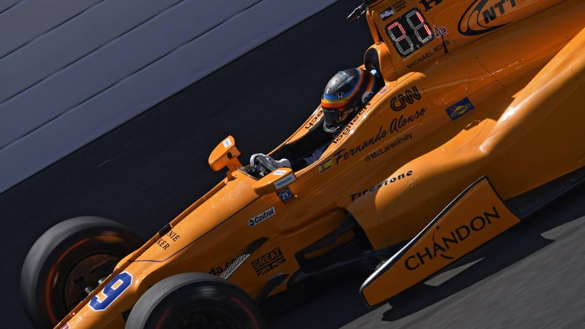 Fernando Alonso en la Indy 500.