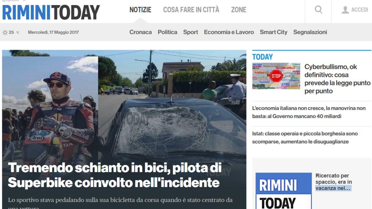 Hayden, grave tras ser atropellado cuando iba en bicicleta en Italia