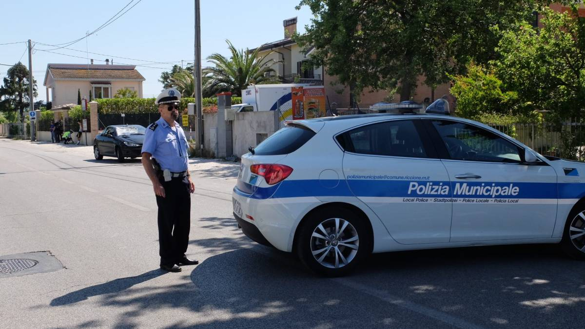 Policía Riccione: accidente de