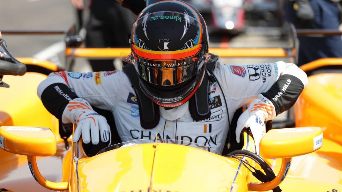 Alonso con los mejores en el Carb Day, paso previo a la carrera