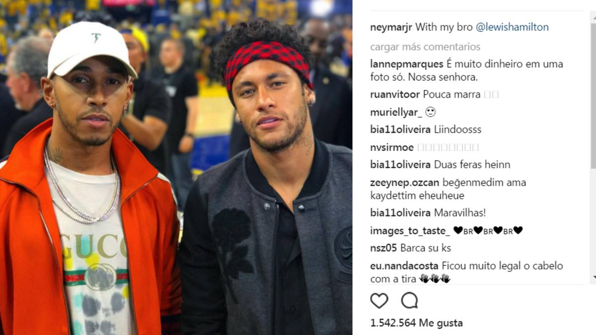 6259ca117 Lewis Hamilton and Neymar enjoy NBA action - AS.com