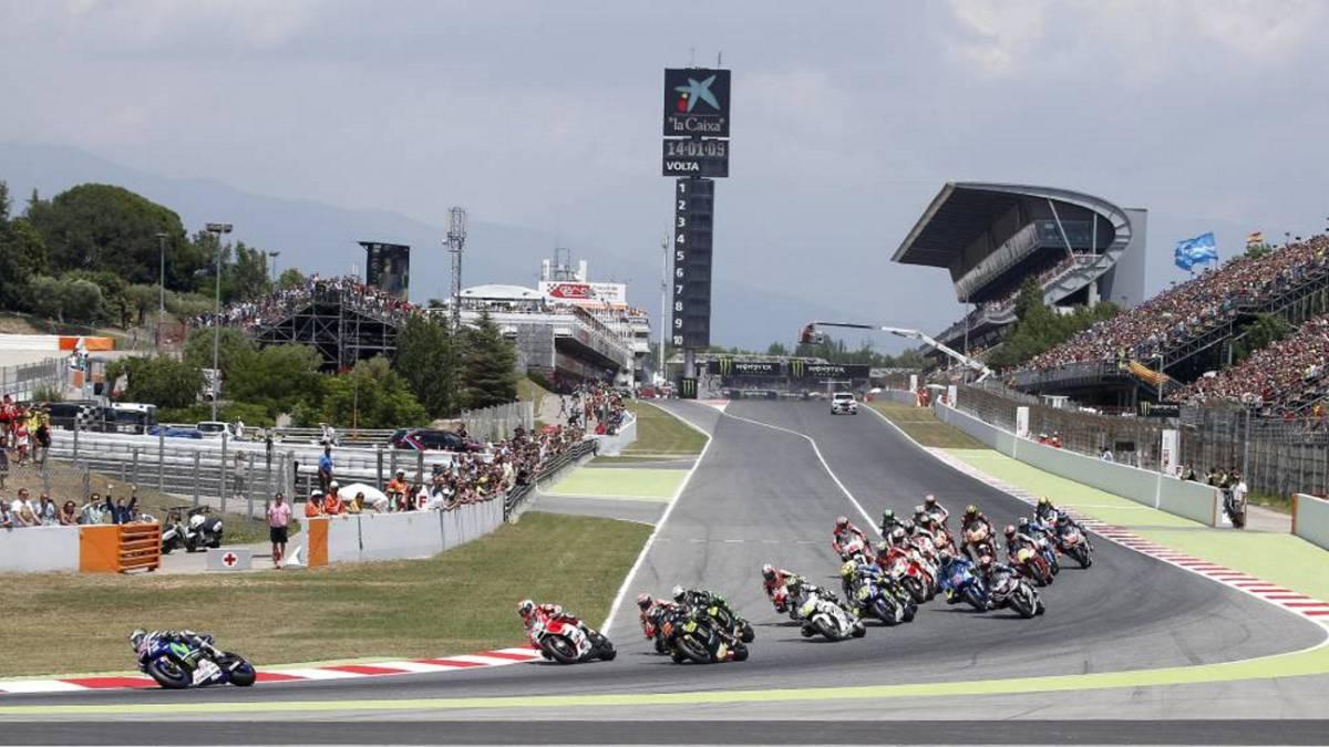 Circuito Montmelo : Motogp división ante la nueva curva en el circuito de