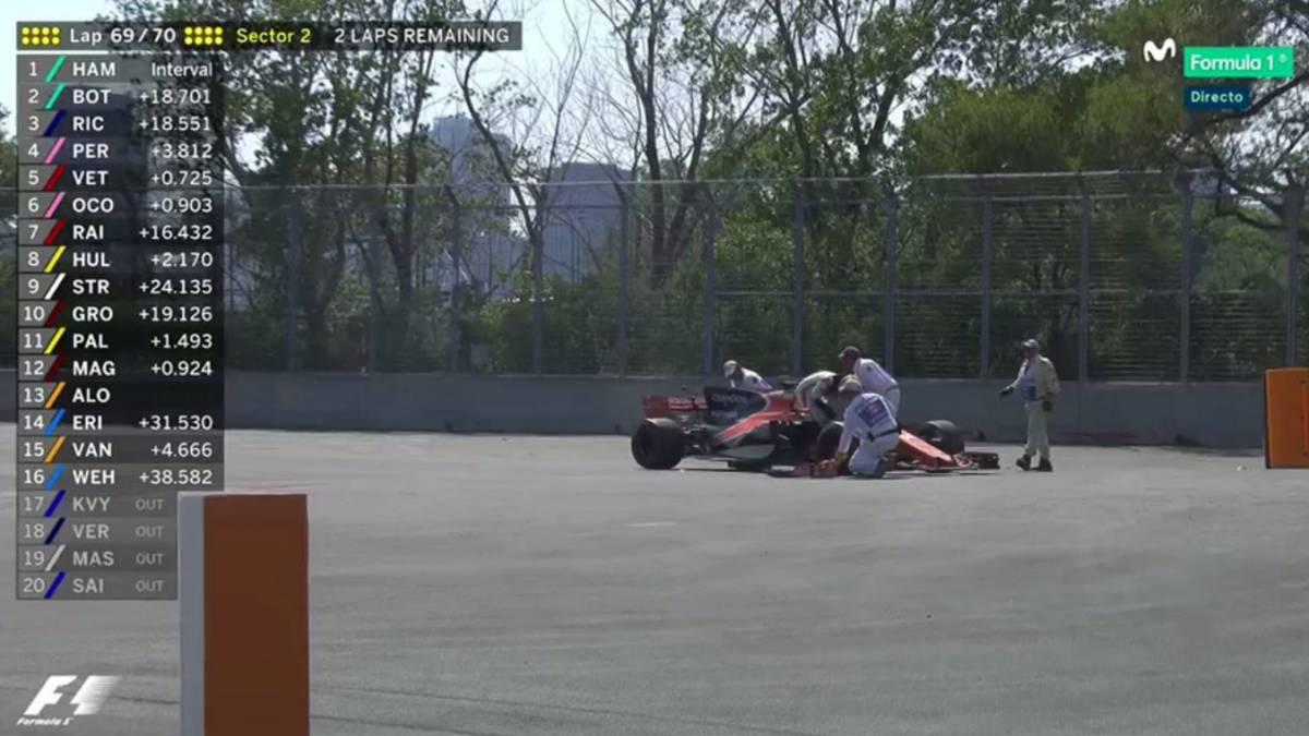 Alonso abandona cuando iba a logar su primer punto