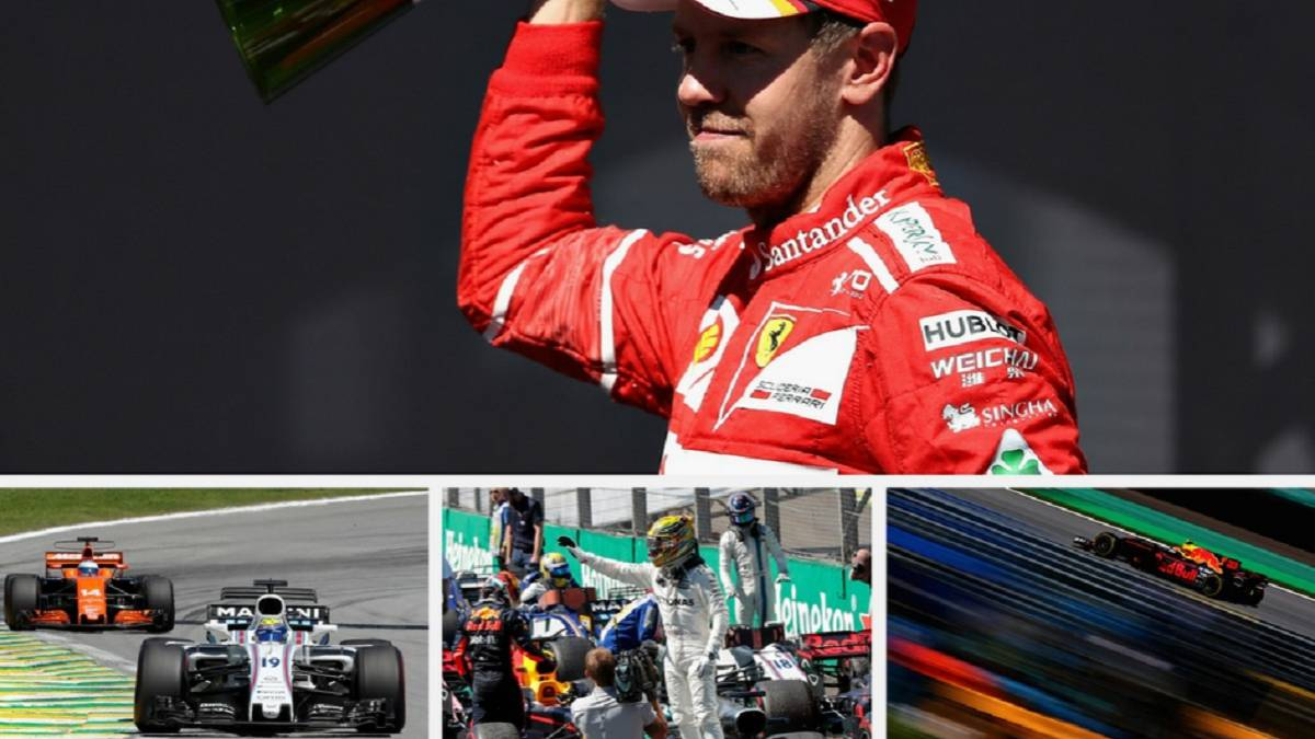 Vettel ganó el Gran Premio de Interlagos