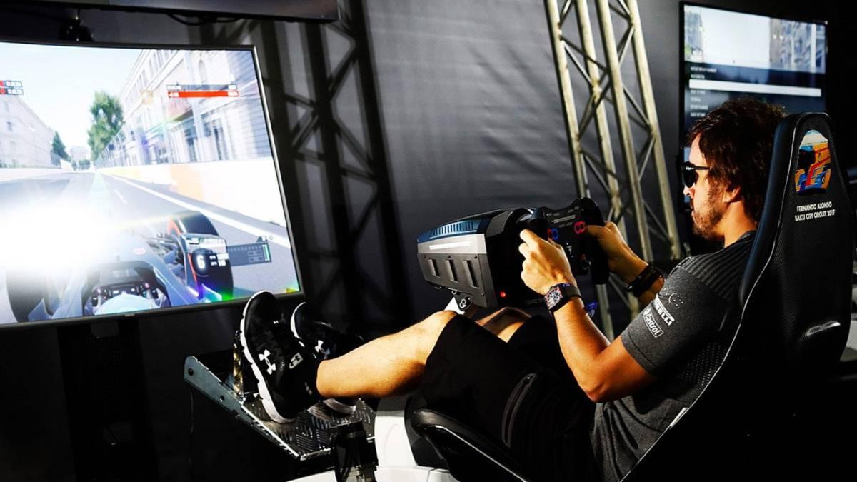 F1 Asi Es Alonso Jugando A La Play Prefiero Apagarla Que Perder