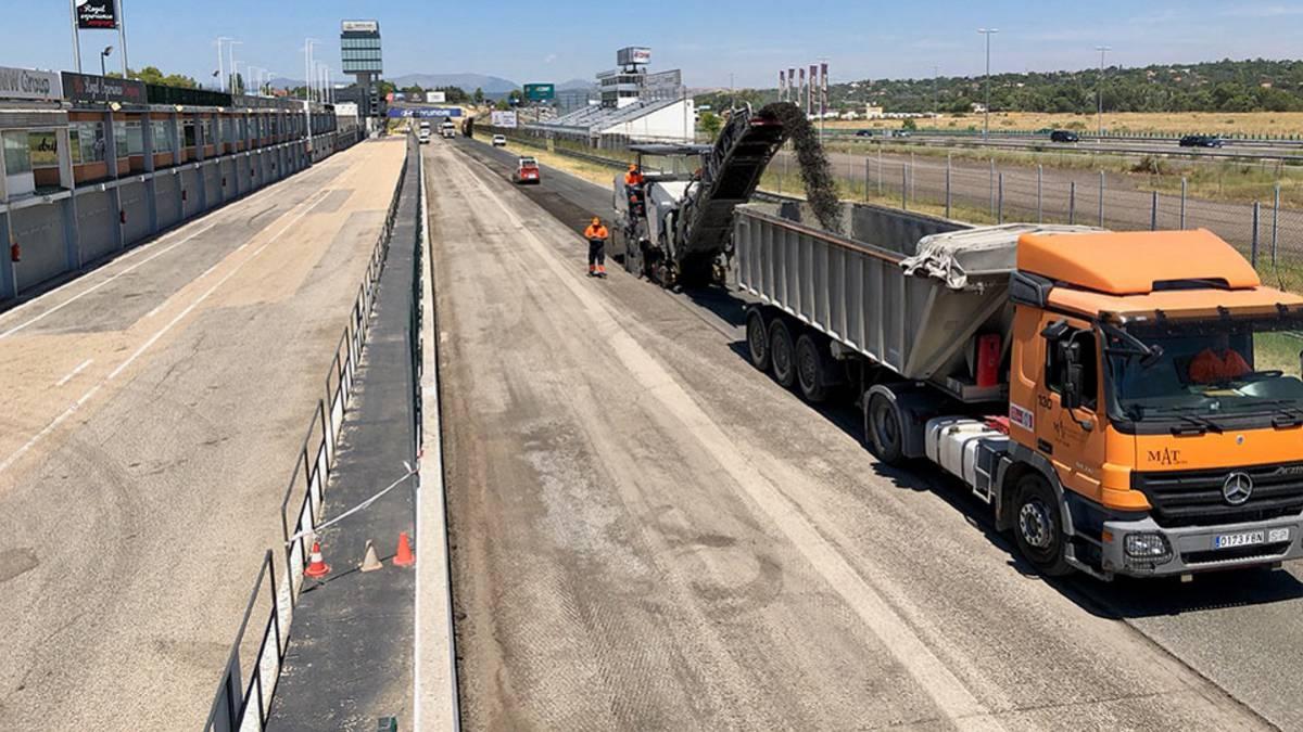 Circuito Jarama : Automovilismo el circuito del jarama comienza el reasfaltado de