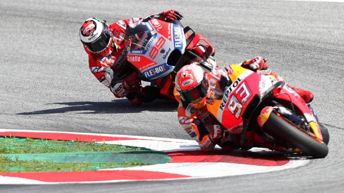 El duelo austriaco entre Márquez y Lorenzo, en vídeo