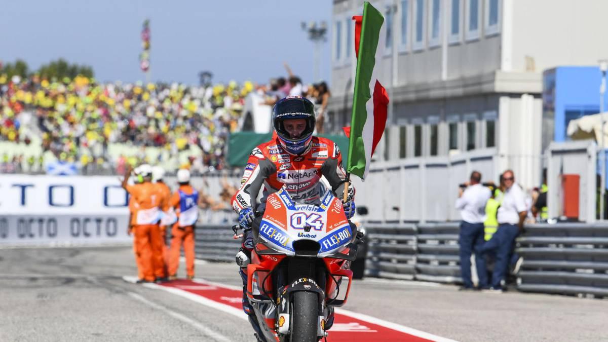 Dovizioso gana en San Marino, Marquez se consolida lider