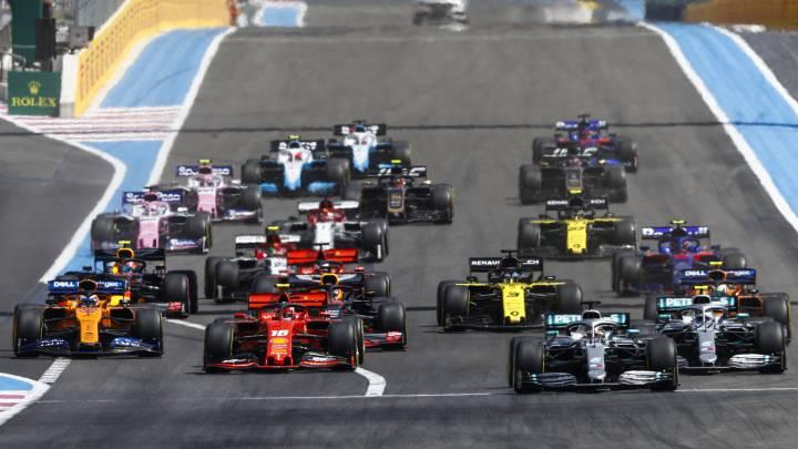 La salida del GP de Francia en Le Castellet. F1 2020.