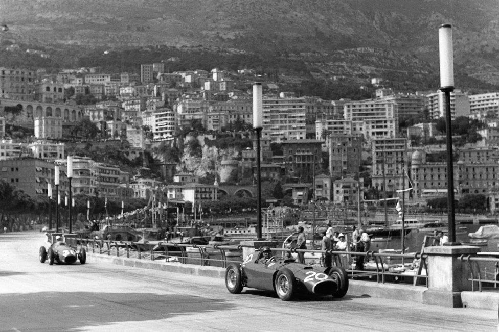 Fangio por el circuito de Mónaco