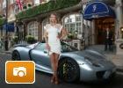 Sharapova y el Porsche 918 Spyder en Wimbledon