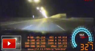 Pinchar a 327 km/h, mal asunto