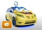 ¿Quién vive en un Toyota Sienna debajo del mar? ¡Bob Esponja!