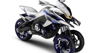 Yamaha sorprende con una trail futurista de tres ruedas