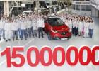 Renault lleva 15 millones de unidades fabricadas en España