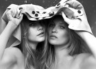 Cara Delevinge y Kate Moss, dos super modelos muy unidas