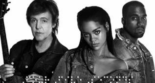 Rihanna, Kanye West y Paul McCartney se marcan un trio