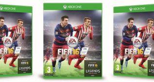 Griezmann y Cuadrado en la portada de FIFA 16