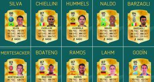 FIFA 16: Sergio Ramos y Godín entre los 10 mejores defensas
