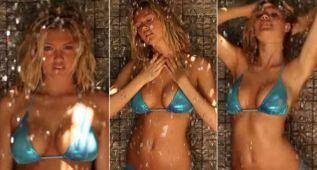 La sensual ducha de Kate Upton en bikini causa furor en la red
