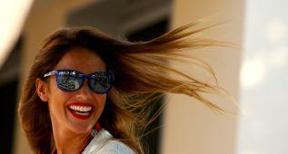 Lara Álvarez, el mejor apoyo de Fernando Alonso en Abu Dhabi