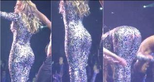 A Jennifer López le explotaron las costuras en Las Vegas