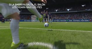 FIFA 16: sorprende a la barrera con una falta rasa (vídeo)
