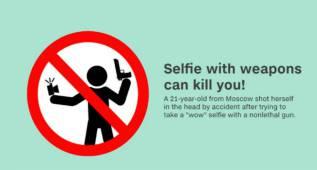 Hacerse un selfie puede costarnos la vida