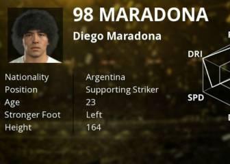 Maradona encabeza a las leyendas del PES 2017