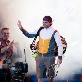 Nadal y Federer visten de lujo la Caja Mágica