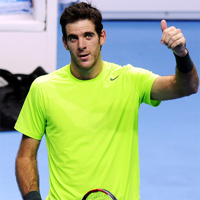 Del Potro, en semis al batir a Federer y deja fuera a Ferrer