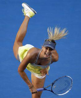 Sharapova repite 'bicicleta' en una semana y cae Stosur