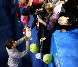 Roger Federer ya suma 250 victorias en Grand Slam