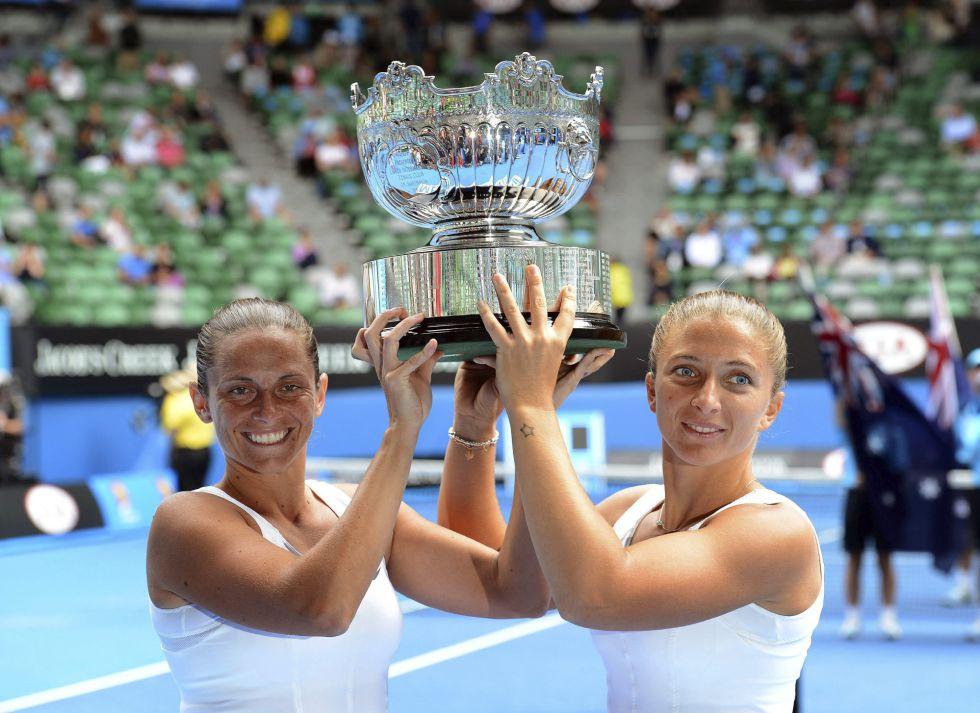 Las italianas Vinci y Errani ganan el título de dobles