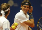 Nadal y Nalbandian vencen en su primer envite en dobles