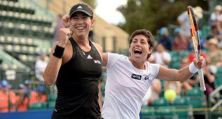 La pareja Muguruza-Suárez logra el pase a la segunda ronda