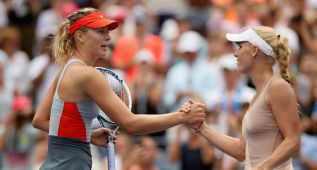 Maria Sharapova no pudo con Caroline Wozniacki
