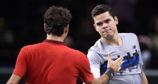 Raonic gana a Federer; Djokovic a Murray y Berdych a Anderson