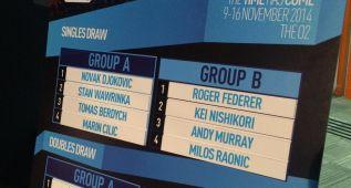 Djokovic, en el mismo grupo que Cilic, Wawrinka y Berdych