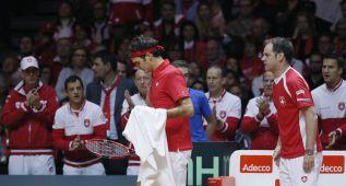 Federer naufraga y Gael Monfils iguala la final para Francia