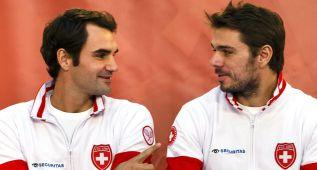 Federer y Wawrinka juegan hoy el dobles ante Francia
