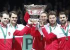 Federer sube al cielo de la Copa Davis apabullando a Gasquet