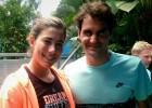 Garbiñe Muguruza se encontró con Roger Federer en el zoo