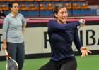 Garbiñe Muguruza ya se entrena con el equipo español