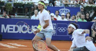 Nadal y Mónaco caen en los dobles de Buenos Aires