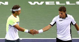 Rafa Nadal, cuartofinalista en dobles y hoy llega ante Young