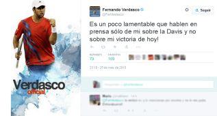 Feliciano y Verdasco: polémica en Twitter a cuenta de la Davis