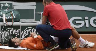 Novak Djokovic, contractura en la ingle ante Muller