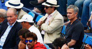 El rey Juan Carlos y Mourinho, en Queen's para ver a Rafa