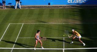 Muguruza y Suárez, en la final de dobles de Birmingham
